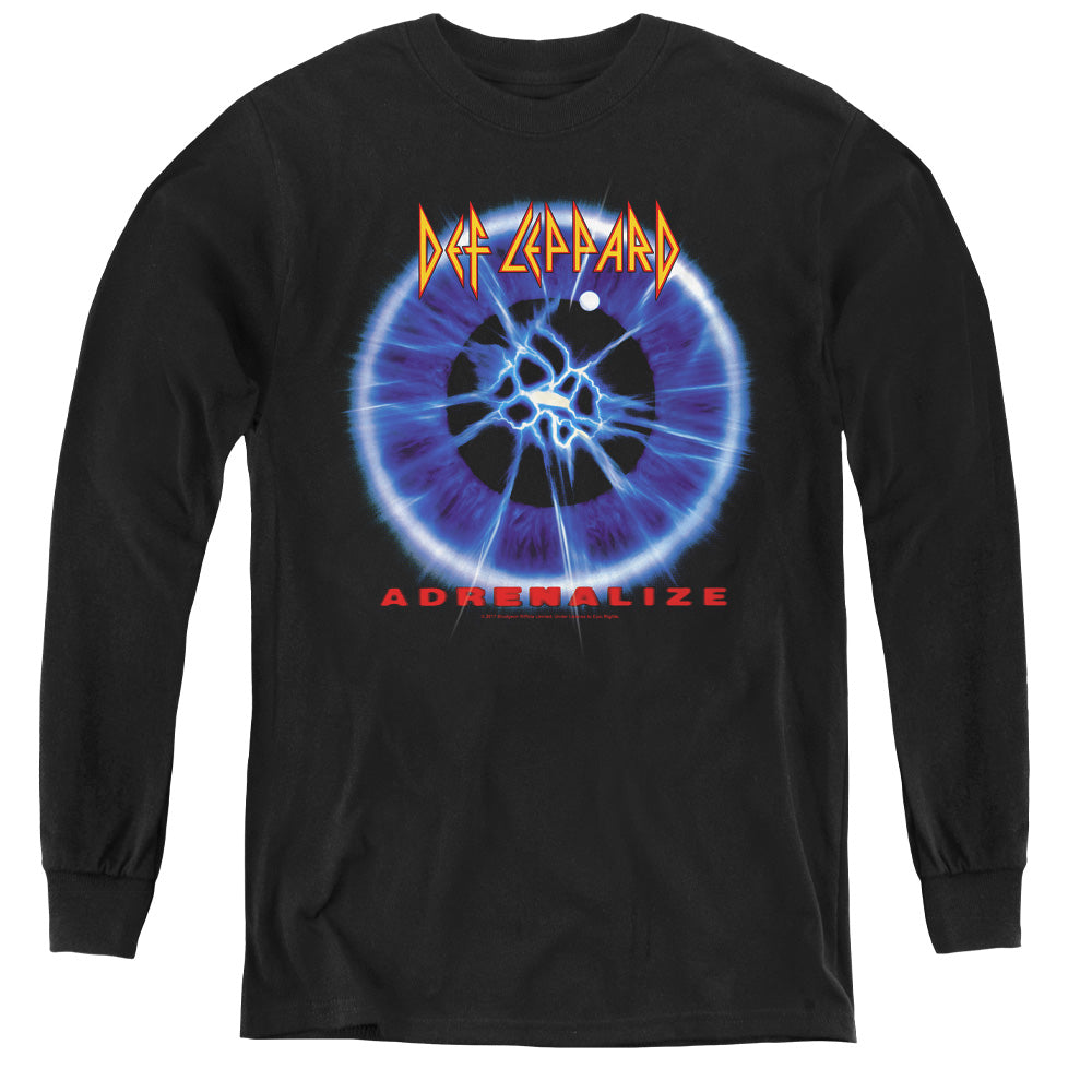 Def Leppard Adrenalize Long Sleeve Kids Youth T Shirt Black