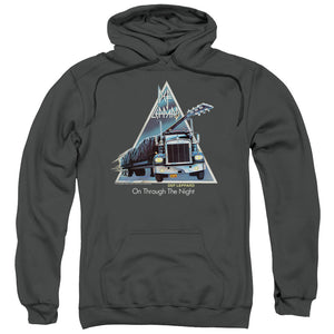 Def Leppard On Through The Night Mens Hoodie Charcoal