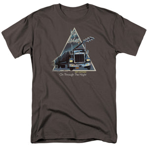 Def Leppard On Through The Night Mens T Shirt Charcoal