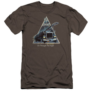 Def Leppard On Through The Night Premium Bella Canvas Slim Fit Mens T Shirt Charcoal