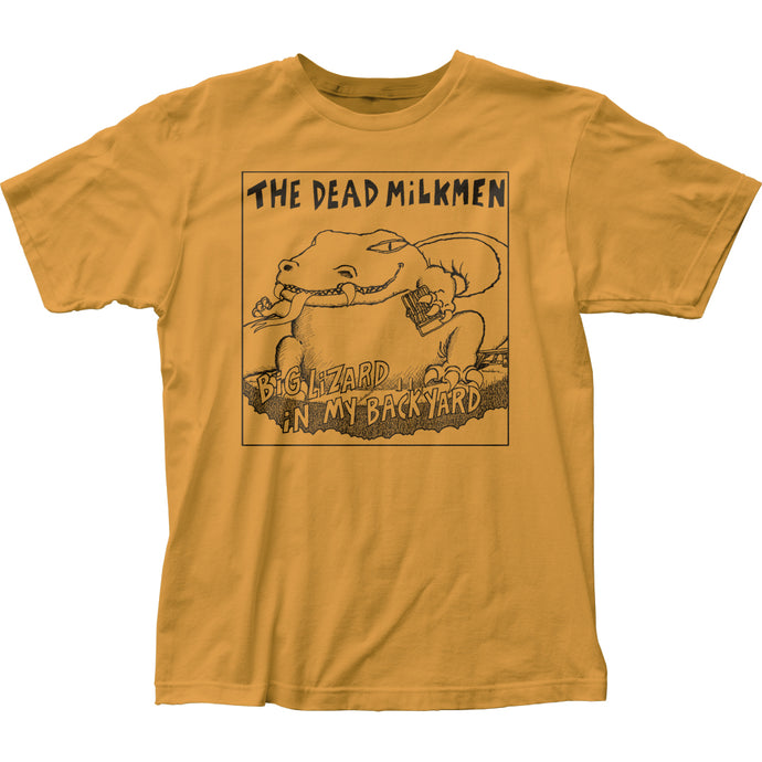 The Dead Milkmen Big Lizard Mens T Shirt Yellow