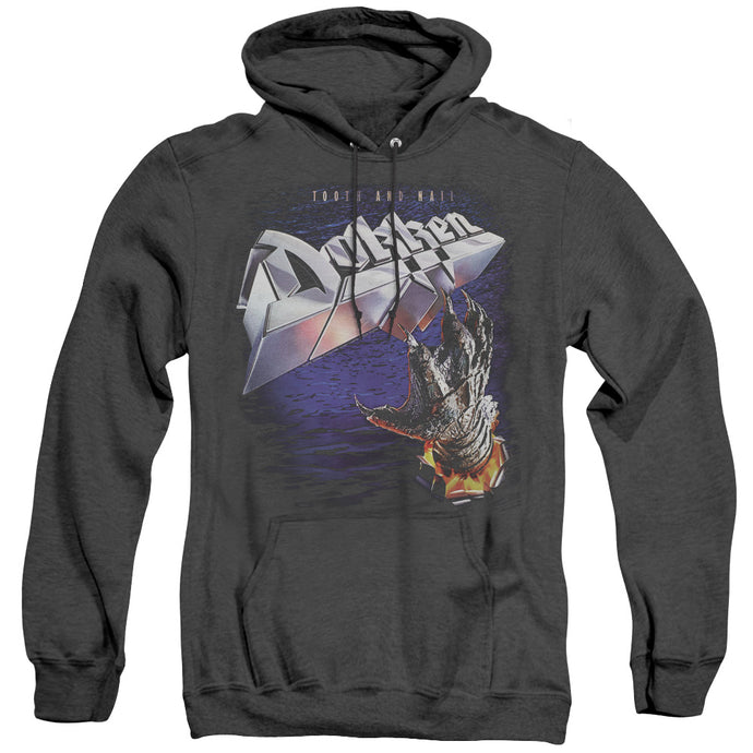 Dokken Tooth and Nail Heather Mens Hoodie Black
