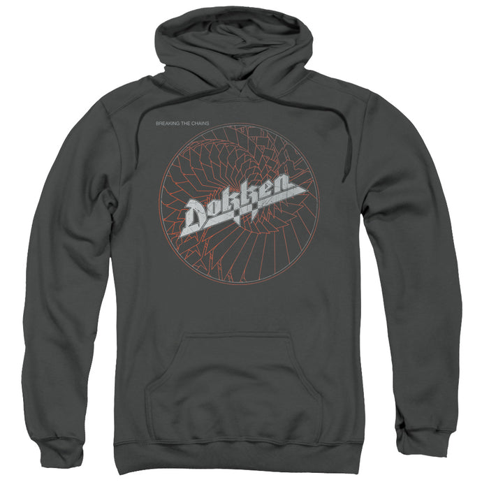 Dokken Breaking The Chains Mens Hoodie Charcoal