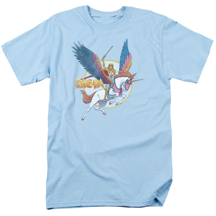 She Ra and Swiftwind Mens T Shirt Light Blue