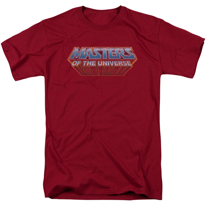 Masters of the Universe Logo Mens T Shirt Cardinal