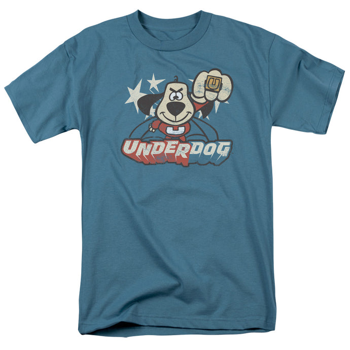 Underdog Flying Logo Mens T Shirt Slate