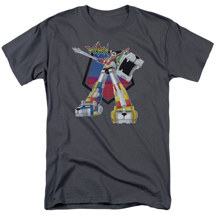 Voltron Blazing Sword Mens T Shirt Charcoal