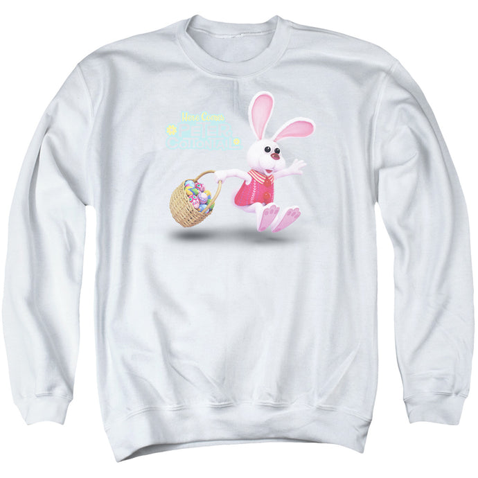 Here Comes Peter Cottontail Hop Around Mens Crewneck Sweatshirt White