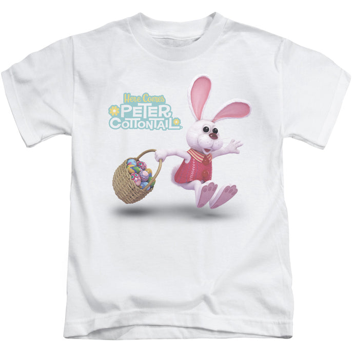 Here Comes Peter Cottontail Hop Around Juvenile Kids Youth T Shirt White