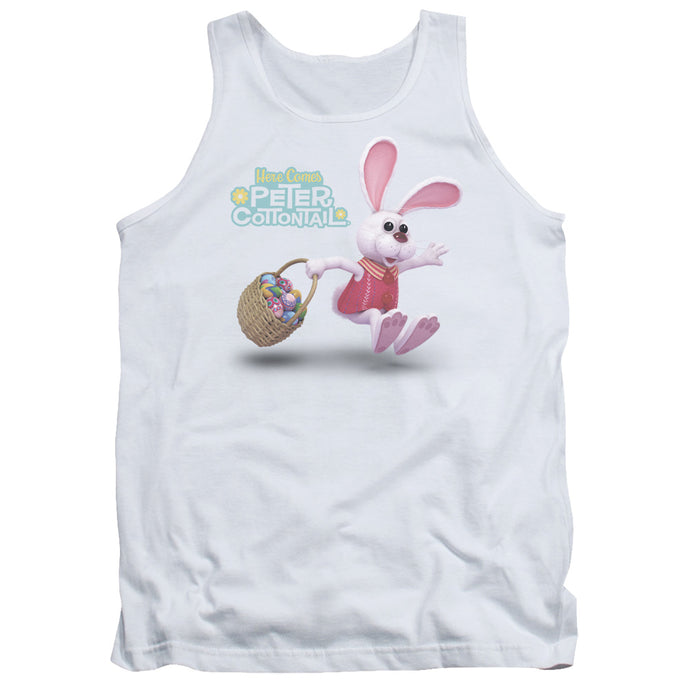 Here Comes Peter Cottontail Hop Around Mens Tank Top Shirt White