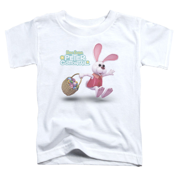 Here Comes Peter Cottontail Hop Around Toddler Kids Youth T Shirt White