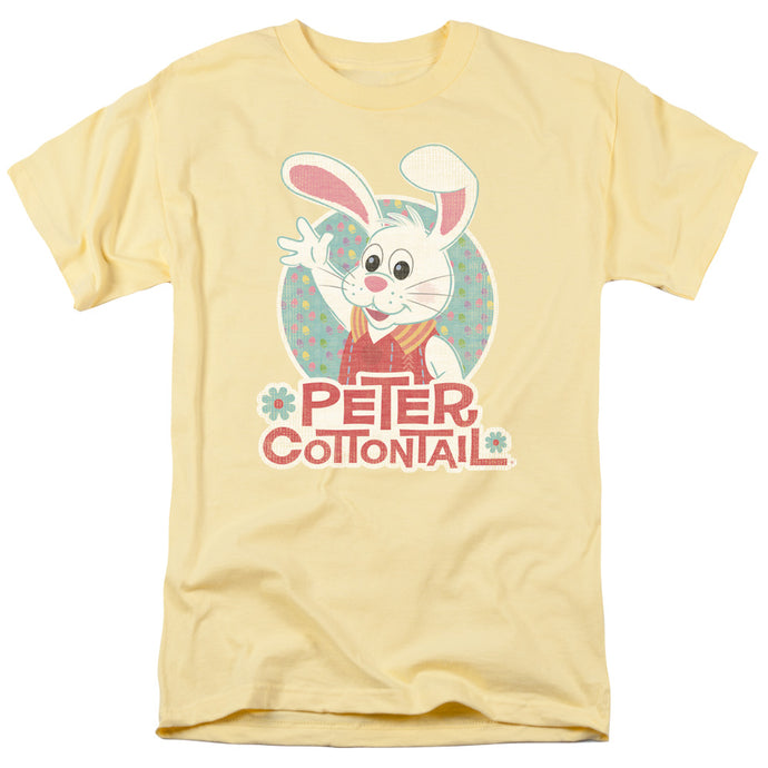 Here Comes Peter Cottontail Peter Wave Mens T Shirt Yellow