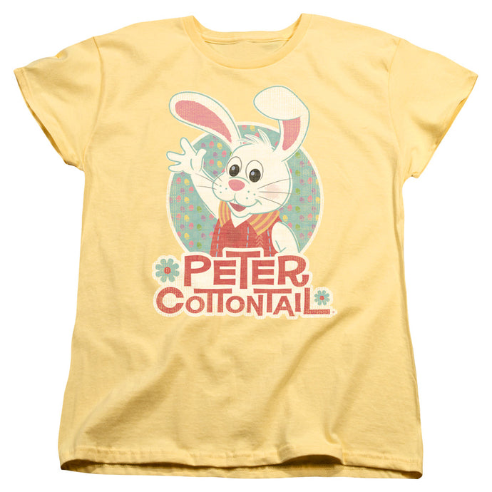 Here Comes Peter Cottontail Peter Wave Womens T Shirt Yellow