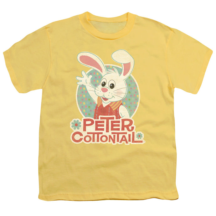 Here Comes Peter Cottontail Peter Wave Kids Youth T Shirt Yellow