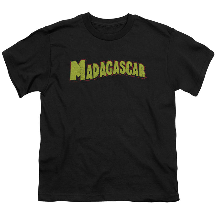 Madagascar Logo Kids Youth T Shirt Black
