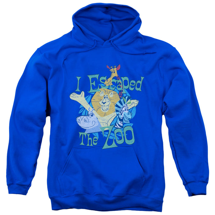 Madagascar Escaped Mens Hoodie Royal Blue