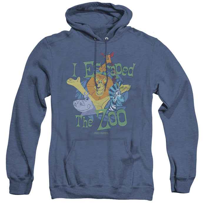 Madagascar Escaped Heather Mens Hoodie Royal Blue