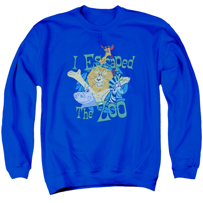 Madagascar Escaped Mens Crewneck Sweatshirt Royal Blue