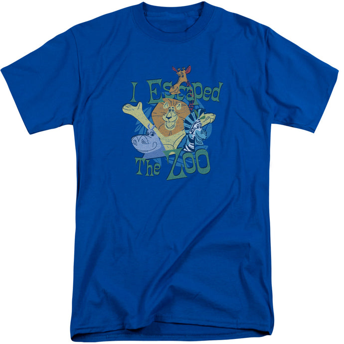 Madagascar Escaped Mens Tall T Shirt Royal Blue
