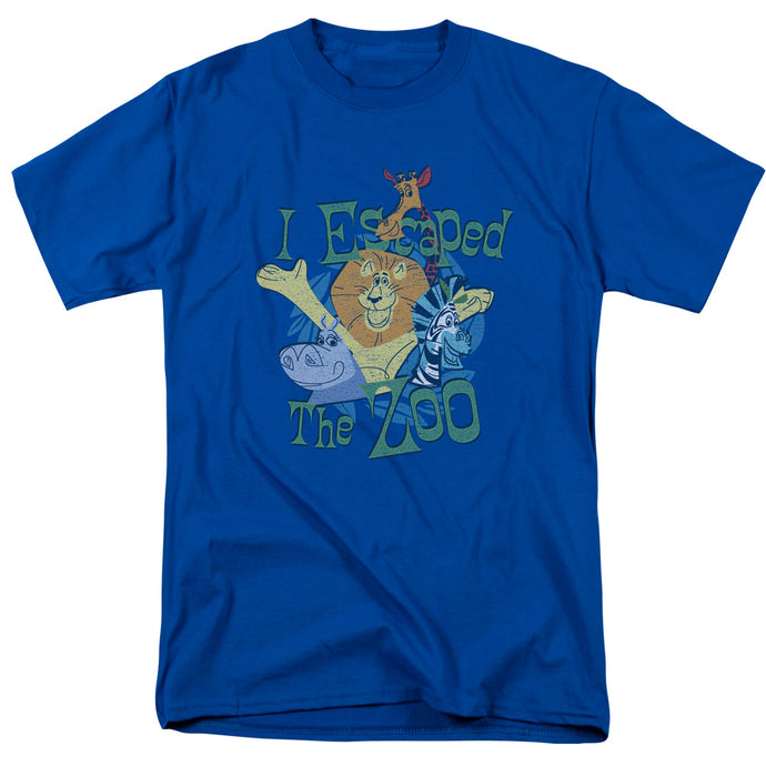 Madagascar Escaped Mens T Shirt Royal Blue