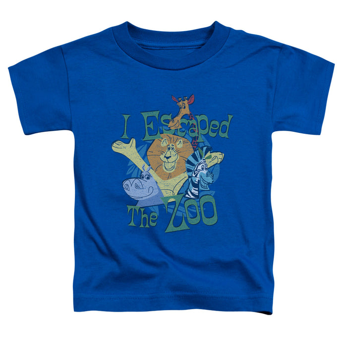 Madagascar Escaped Toddler Kids Youth T Shirt Royal Blue