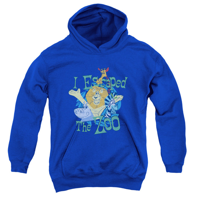 Madagascar Escaped Kids Youth Hoodie Royal