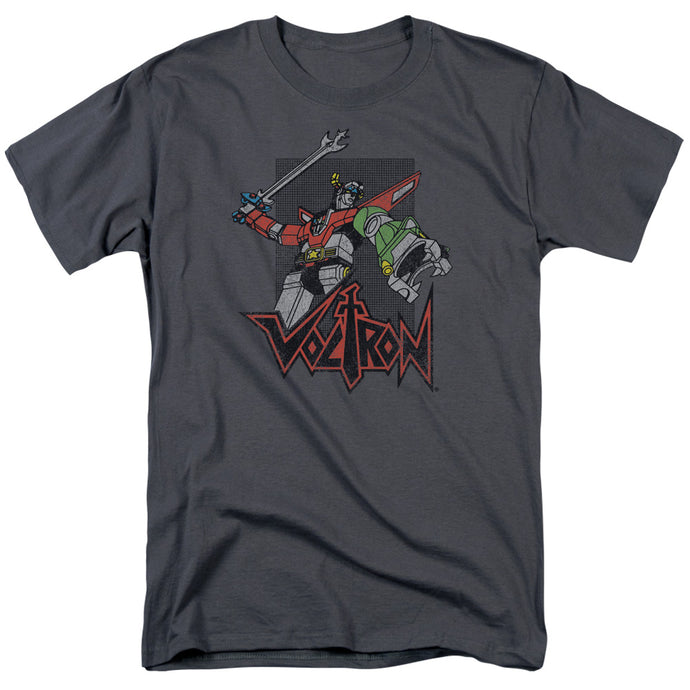 Voltron Roar Mens T Shirt Charcoal