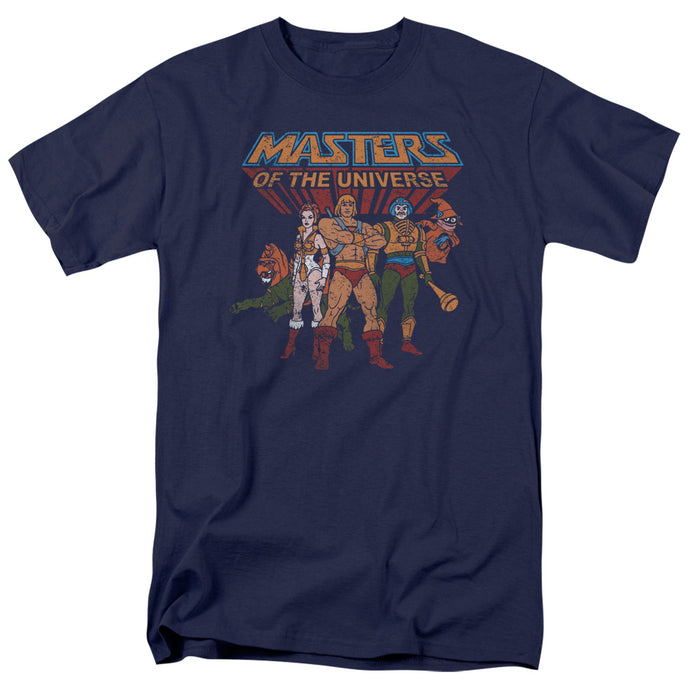 Masters of the Universe Team of Heroes Mens T Shirt Navy Blue