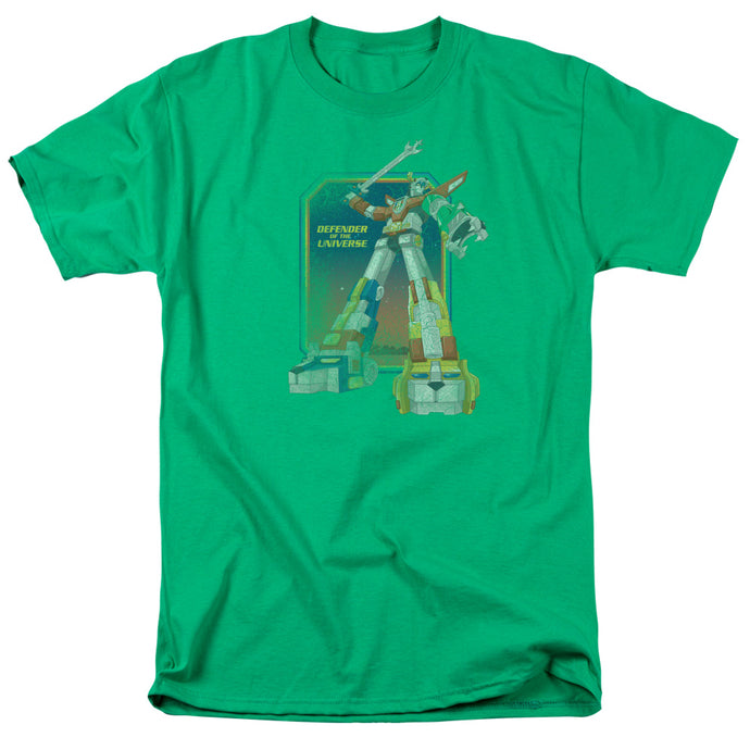 Voltron Distressed Defender Mens T Shirt Kelly Green