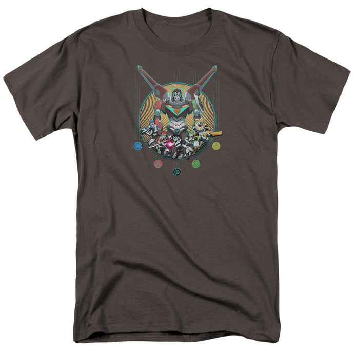 Voltron Assemble Mens T Shirt Charcoal