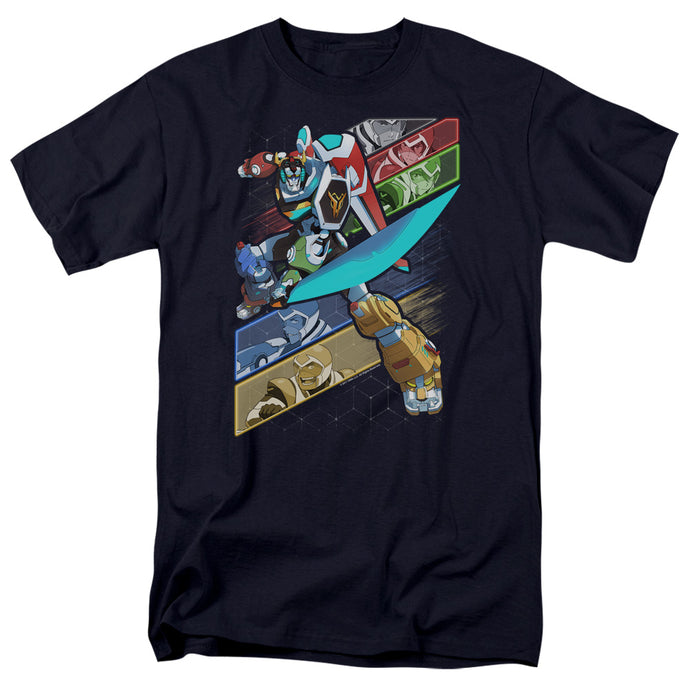 Voltron Crisscross Mens T Shirt Navy Blue