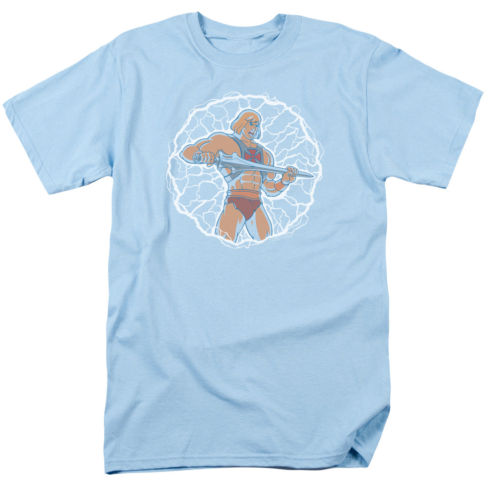 Masters of the Universe Lightning Power Mens T Shirt Light Blue