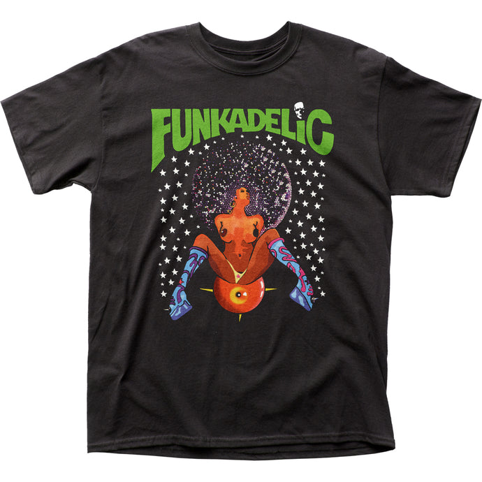 Funkadelic Afro Girl Mens T Shirt Black