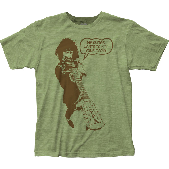 Frank Zappa Kill Your Mama Mens T Shirt Heather Green