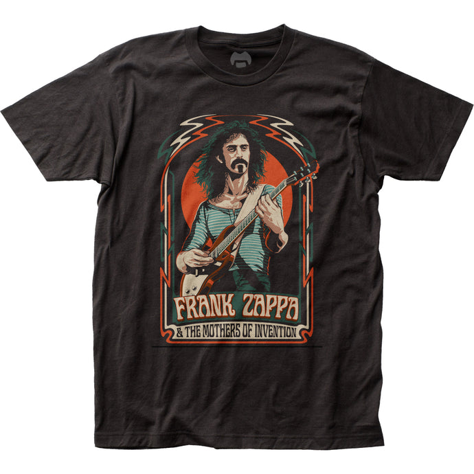 Frank Zappa Illustration Mens T Shirt Black