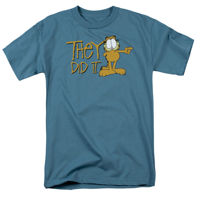 Garfield They Did It Mens T Shirt Slate