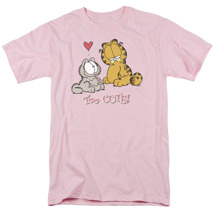 Garfield Too Cute Mens T Shirt Pink