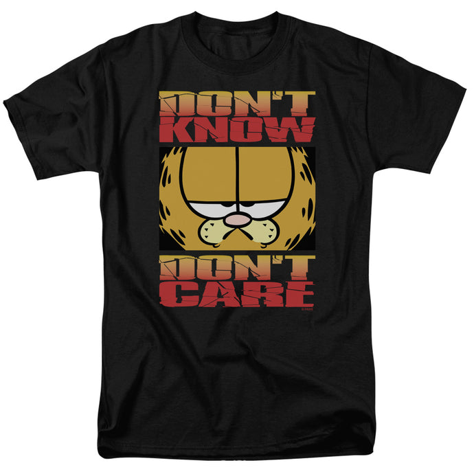 Garfield Dont Know Dont Care Mens T Shirt Black