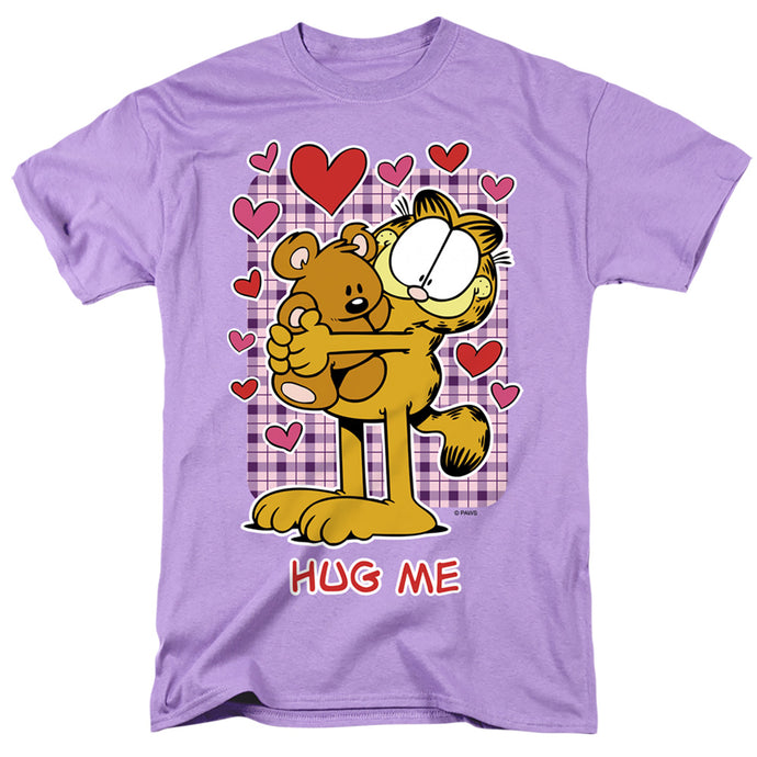 Garfield Hug Me Mens T Shirt Lavender