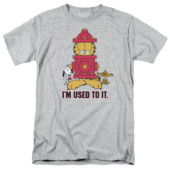 Garfield Im Used to It Mens T Shirt Athletic Heather