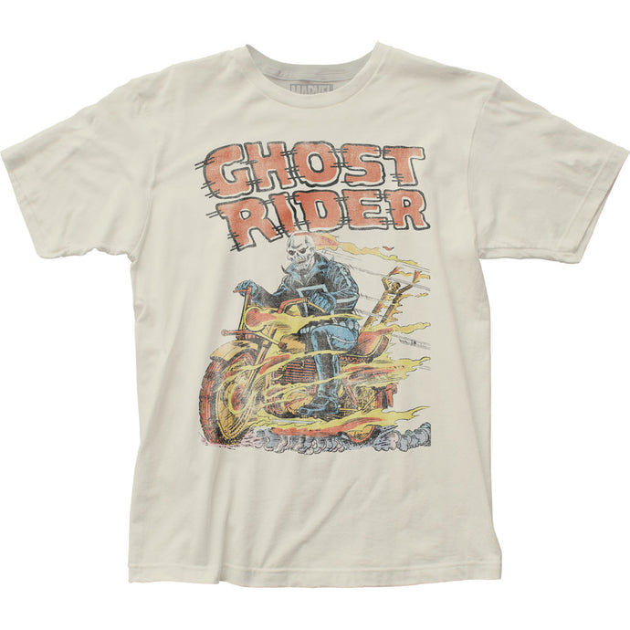 Ghost Rider Hell on Wheels Mens T Shirt Vintage White