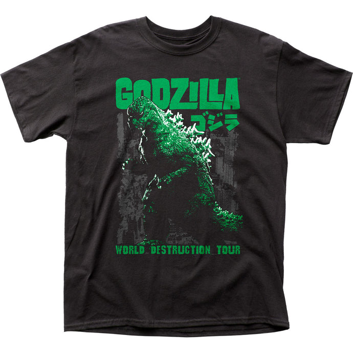 Godzilla World Destruction Tour Mens T Shirt Black