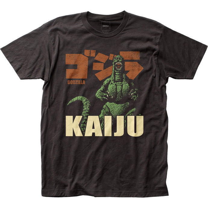 Godzilla KAIJU Mens T Shirt Black