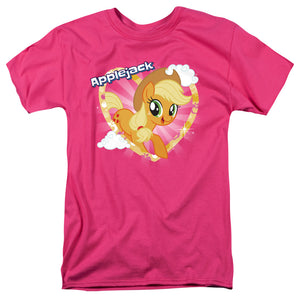 My Little Pony Tv Applejack Mens T Shirt Hot Pink