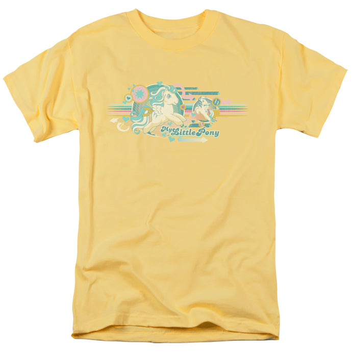 My Little Pony Retro Retro Stripes Mens T Shirt Yellow