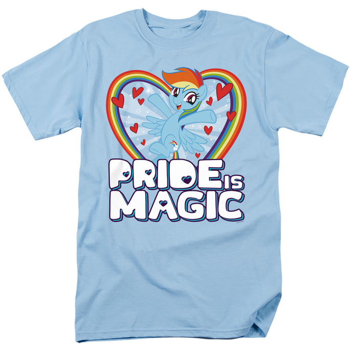 My Little Pony Tv Pride is Magic Mens T Shirt Light Blue