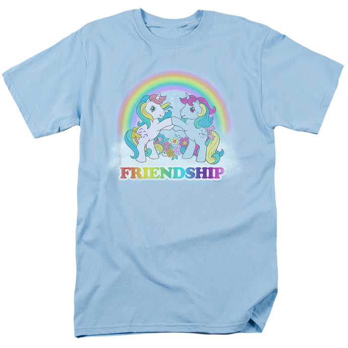 My Little Pony Retro Friendship Mens T Shirt Light Blue