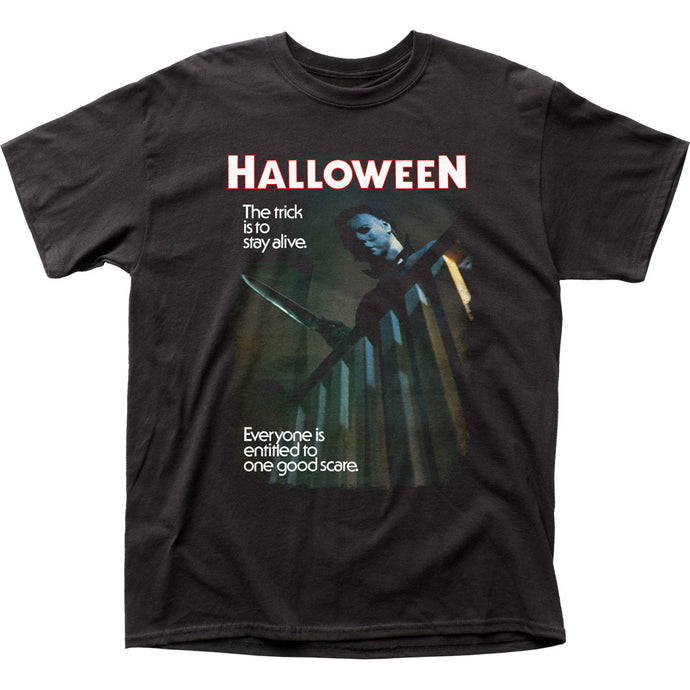 Halloween One Good Scare Mens T Shirt Black