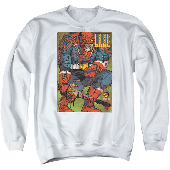 Jay and Silent Bob Ranger Danger Mens Crewneck Sweatshirt White