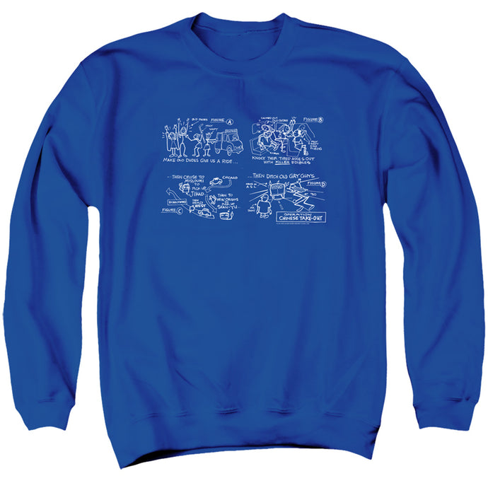 Jay and Silent Bob Chinese Take Out Mens Crewneck Sweatshirt Royal Blue